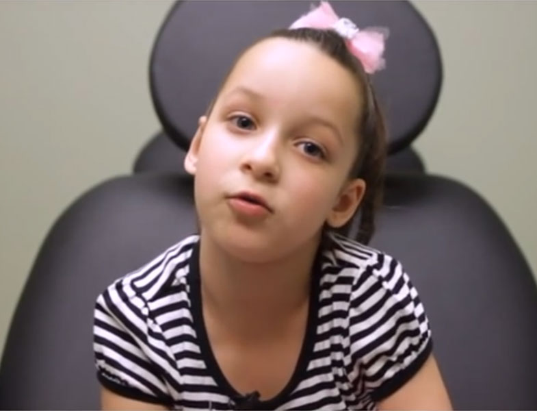 Dr Frank Scaccia's cute video of a young girl's plastic surgery